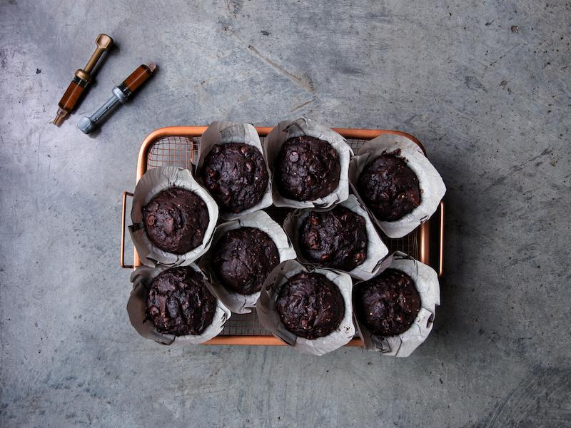 Get Baked Chocolate Zucchini Muffins